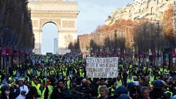 Protestas causan efectos en la economía francesa