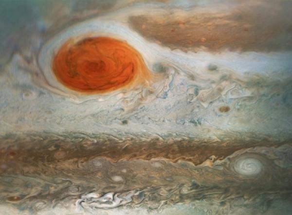Nueva imagen de la gran mancha roja de Júpiter de la NASA