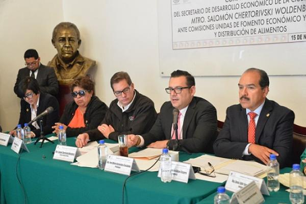 Comparece ante ALDF Secretario de Desarrollo Económico CDMX
